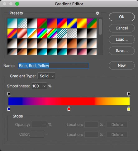 The Gradient Editor